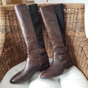 Nine West Women's Brown Leather Tall Boot Size 7.5